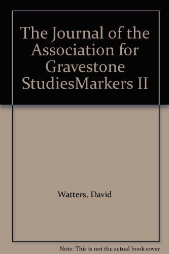 The Journal of the Association for Gravestone StudiesMarkers II: Watters, David