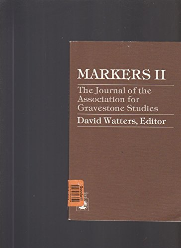 9780819134646: The Journal of the Association for Gravestone Studies: Markers II