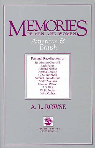 MEMORIES OF MEN & WOMEN AMERICAN & BRITI: ROWSE, ALFRED LESLIE