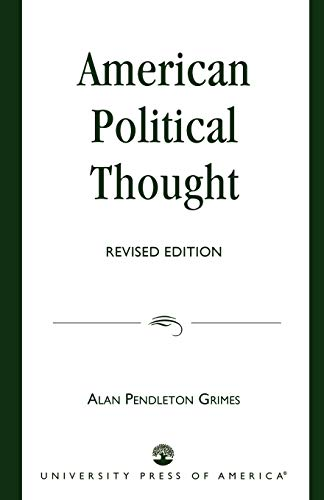 9780819135964: American Political Thought