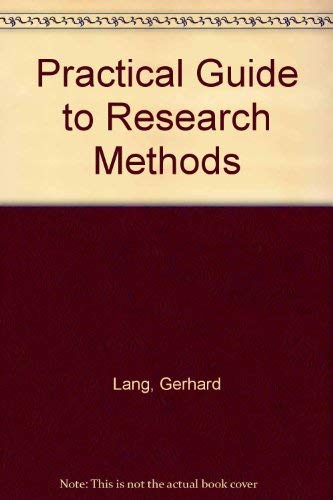9780819137265: Practical Guide to Research Methods