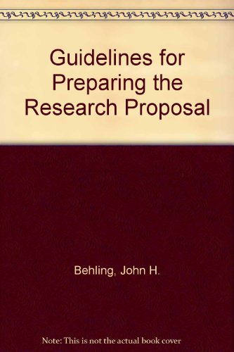 9780819137333: Guidelines for Preparing the Research Proposal