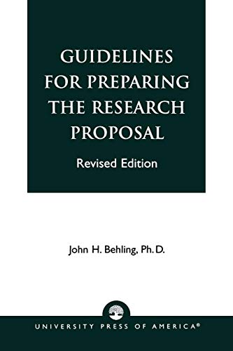 9780819137340: Guidelines for Preparing the Research Proposal