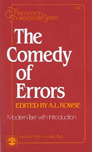 9780819139351: The Comedy of Errors (Contemporary Shakespeare Series)