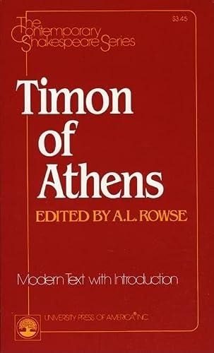 9780819139399: Timon of Athens (Contemporary Shakespeare Series)