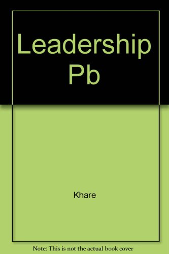 Leadership Pb: Khare, R.S.; Little, David