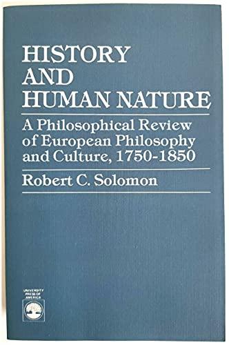 9780819139795: History and Human Nature