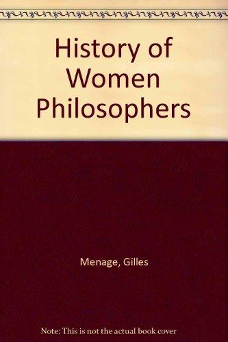 9780819142726: The History of Women Philosophers