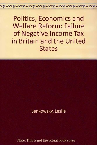 9780819152169: Politics, Economics, and Welfare Reform: The Failure of the Negative Income Tax in Britain and the United States