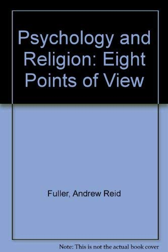9780819153364: Psychology and Religion: Eight Points of View