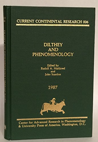 9780819163059: Dilthey and Phenomenology