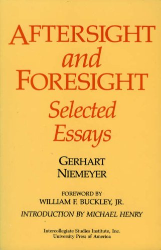 9780819168412: Aftersight and Foresight: Selected Essays