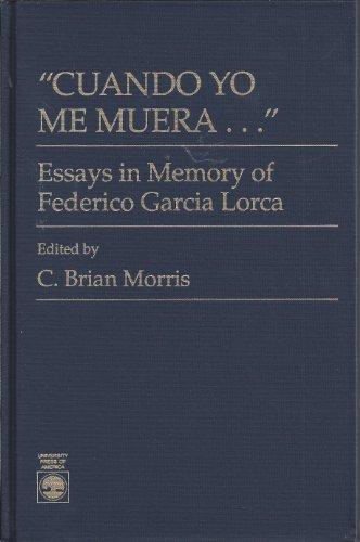 9780819169907: Cuando Yo Me Muera: Essays in Memory of Frederico Garcia Lorca