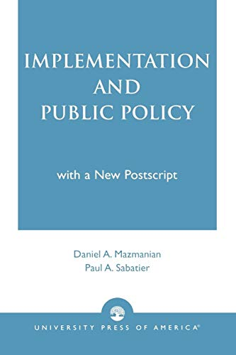 9780819175267: Implementation and Public Policy