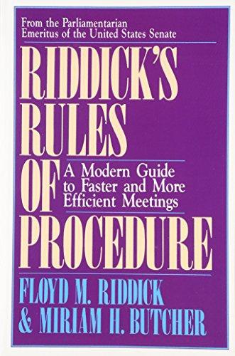 Riddick's Rules: Floyd M. Riddick
