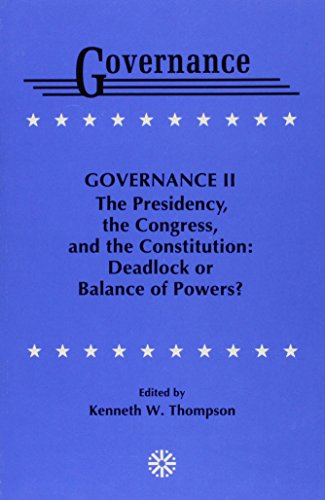 Governance II (9780819181336) by Kenneth W. Thompson