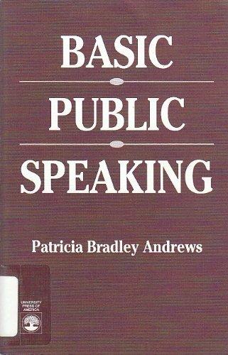 9780819184924: Basic Public Speaking