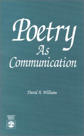 9780819186652: Poetry As Communication