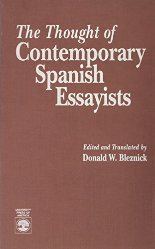 9780819188618: The Thought of Contemporary Spanish Essayists