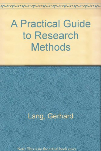 9780819193834: A Practical Guide to Research Methods