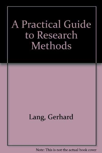 9780819193841: A Practical Guide to Research Methods
