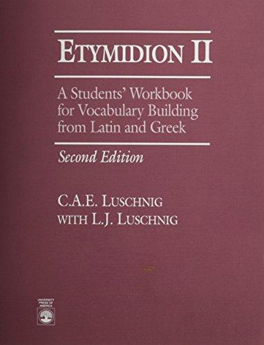 Etymidion II (0819193879) by Cecelia Eaton Luschnig