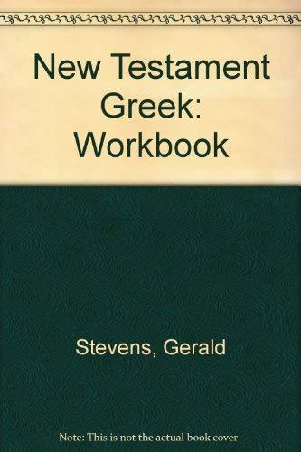 9780819195999: New Testament Greek: Workbook