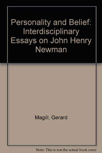 9780819197573: Personality and Belief: Interdisciplinary Essays on John Henry Newman