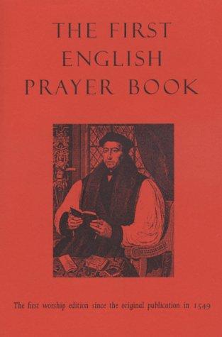 THE FIRST ENGLISH PRAYER BOOK: Van de Weyer, Robert