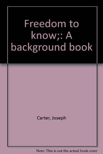 9780819307392: Freedom to know;: A background book