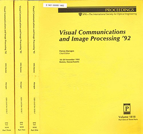 9780819410184: Visual Communications and Image Processing 92 (Proceedings of Spie) (Pts 1-3)