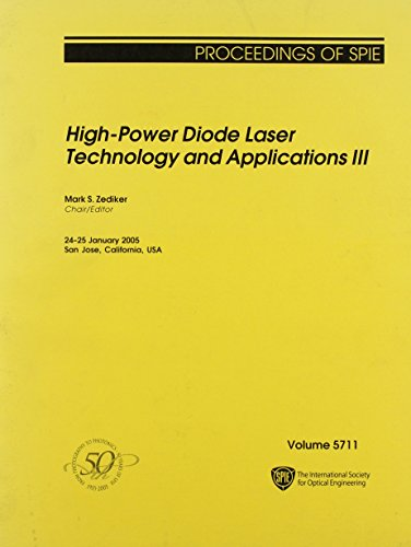 9780819456854: 3: High-Power Dioder Laser Technology And Applications III (Proceedings of Spie)