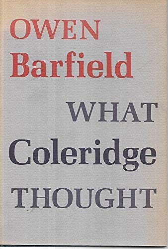 What Coleridge Thought (0819540404) by Barfield, Owen