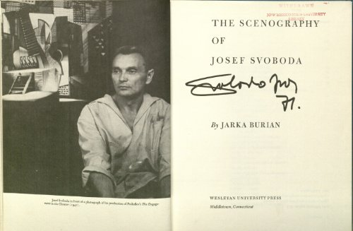 9780819540416: The scenography of Josef Svoboda