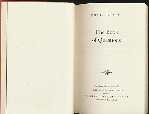 9780819540911: The Book of Questions