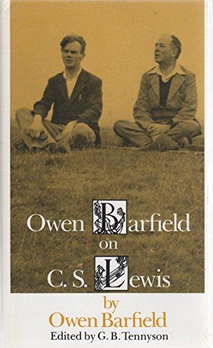 9780819552334: Owen Barfield on C.S.Lewis