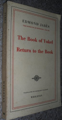 9780819560490: The Book of Questions, Vols 2 + 3: The Book of Yukel and Return to the Book