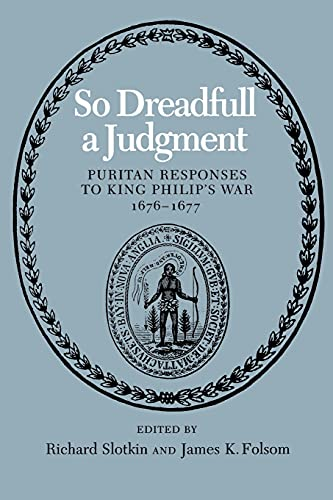 9780819560582: So Dreadfull a Judgment: Puritan Responses to King Philip's War, 1676–1677