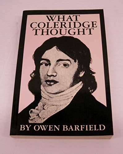 9780819560841: What Coleridge Thought