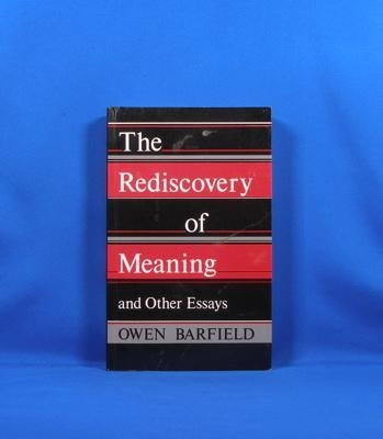 9780819561244: The Rediscovery of Meaning and Other Essays