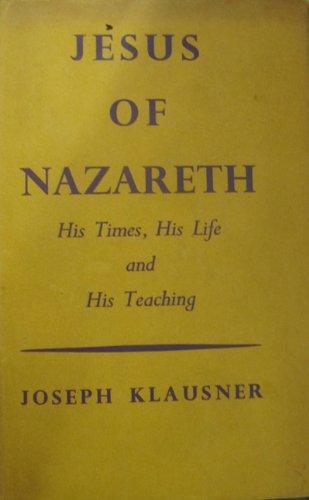9780819705907: Jesus of Nazareth