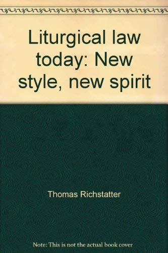 9780819906724: Liturgical law today: New style, new spirit