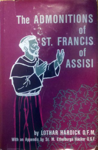 9780819908698: The Admonitions of St. Francis of Assisi