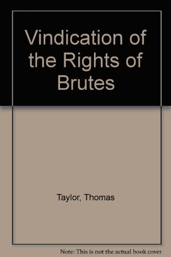 9780820110455: Vindication of the Rights of Brutes