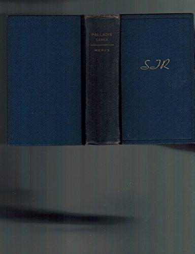 9780820111889: Palladis Tamia: (1598)