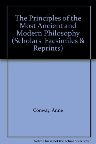 9780820115092: The Principles of the Most Ancient and Modern Philosophy (SCHOLARS' FACSIMILES & REPRINTS) (English and Latin Edition)