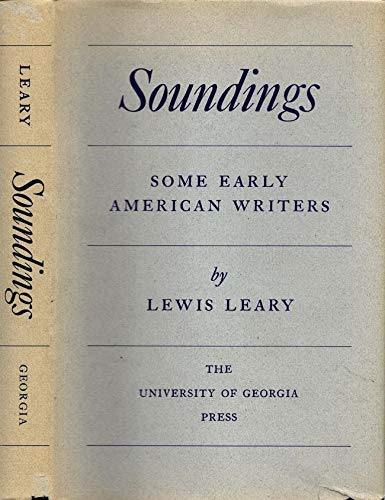 Sounding: Some Early American Writers: Leary, Lewis