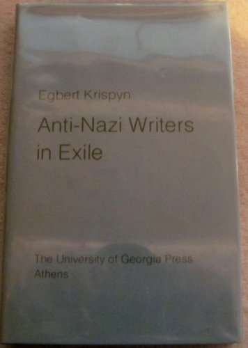 9780820304304: Anti-Nazi Writers in Exile