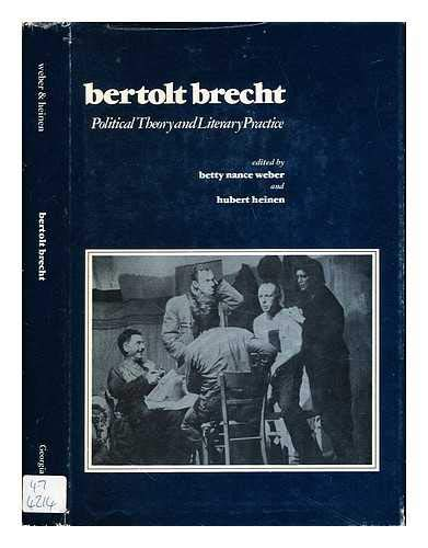 9780820305066: Bertolt Brecht, Political Theory and Literary Practice
