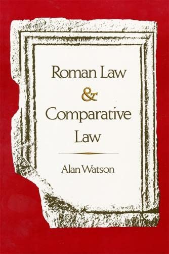 9780820312613: Roman Law and Comparative Law